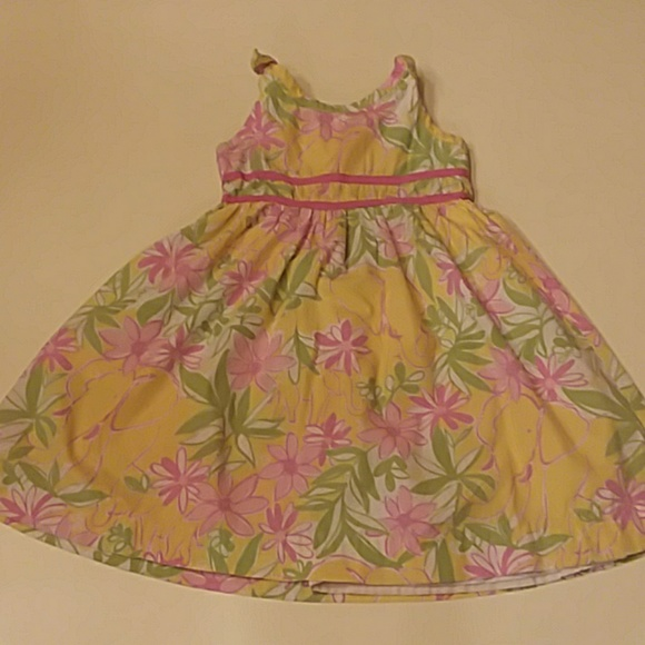 Lilly Pulitzer Other - Lilly Pulitzer 4t yellow pink elephant print dress